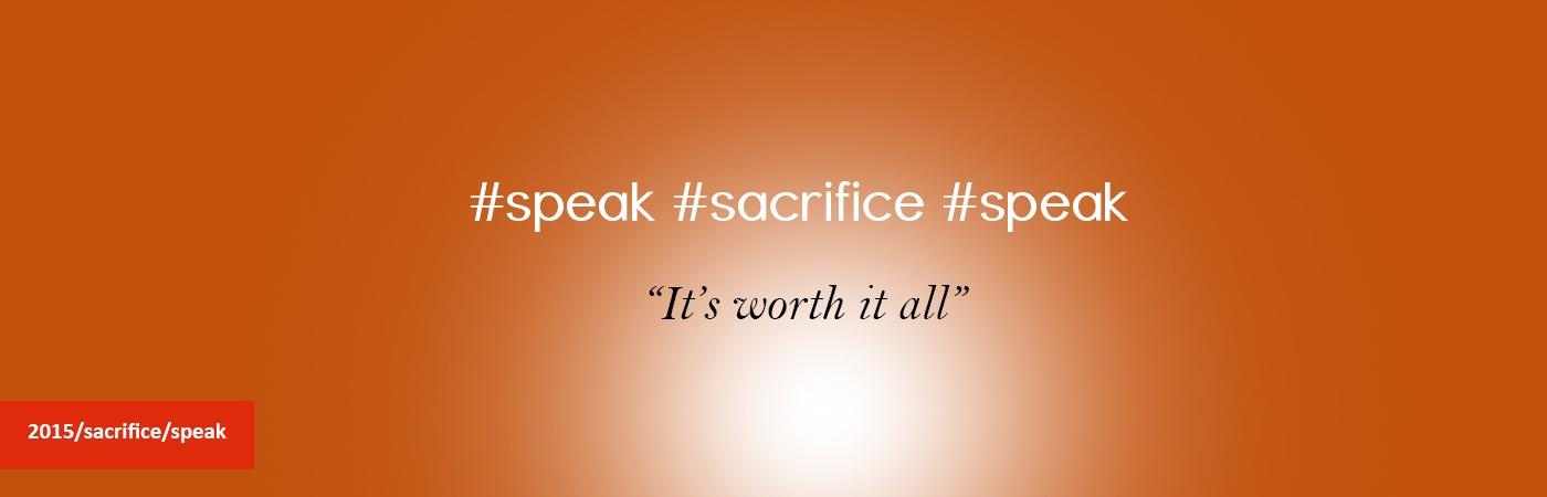 sacrifice-speak